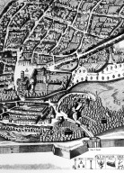 Map of 17th Century Rome in the Area of Santa Maria in Trastevere