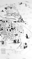 Map of 16th Century Rome with Ancient Monuments in Bold