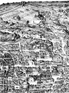 Map of Renaissance Rome in the Area of the Pantheon and Santa Maria Maggiore