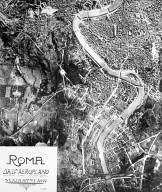 Aerial View of Rome in the 20th Century in the Area of the Vatican and Trastevere