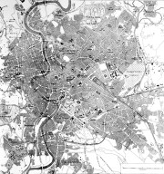 Map of 20th Century Rome with Surrounding Suburbs