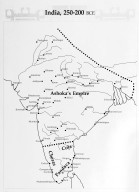 Map of India During the Reign of Ashoka