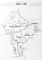 Map of India in 100 CE