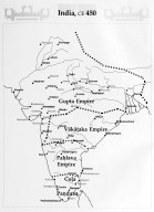 Map of India in 450 BCE