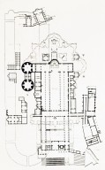 Plans of Circus of Caligula and Nero, Old Saint Peter's, and Saint Peter's Basilica