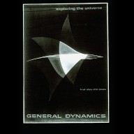 General Dynamics First Steps Into Space Poster