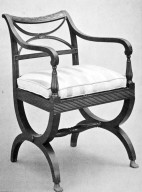 Mahogany Cross Leg Chair