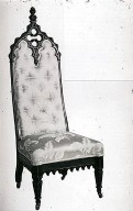 Rosewood Gothic Revival Side Chair