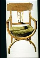 Mahogany Armchair Based on Roman Curule Form