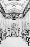 Sketch of the Flaxman room