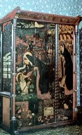 Oak Wardrobe with Scenes from Chaucer's Prioness's Tale