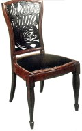 Chair with Fretwork Back