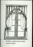 Gothic Curtains and Cornice