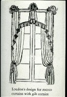 Rococo Curtains with Gilt Cornice