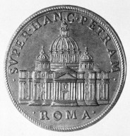 Medal with Michelangelo's Design for Saint Peter's Basilica