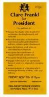 RIBA Presenditial Campaign Flier