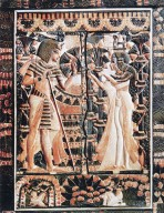 Ivory Panel: Tutankhamun and Ankhesenamun