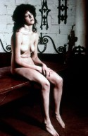 Seated Nude Girl with Brown Hair