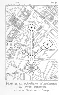 Plan of the Place de l'Opera with Proposed Triumphal Columns