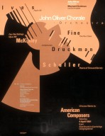 John Oliver Chorale Orchestra American Composers Poster -