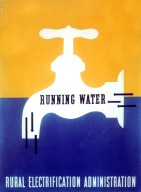 Running Water - Rural Electrification Administration Poster