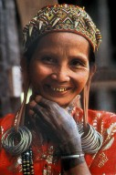 Dayak Chief's Wife with Stretched Earlobes and Tattoos