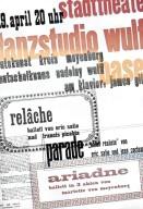 Poster for Relache Ballet Performance