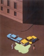 Illustration for Atlantic Monthly Magazine - Car Accident