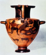 Chalcidian Hydria with Animal Frieze