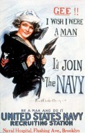 Gee!! I Wish I Were a Man. Navy Recruitment Poster