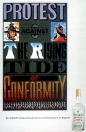 Protest Against the Rising Tide of Conformity Gin Advertisement