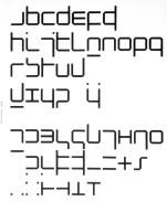 Alphabet Based on Diagonal-Less Program