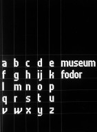 Typeface for the Catalogs of the Museum Fodor