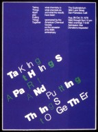 Taking Things Apart and Putting Things Together Poster