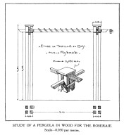 Study of a Pergola in Wood for the Roseraie