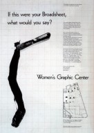 "Program Announcement for Women's Graphic Center, ""If This Were Your Broadsheet, What Would You Say?"""