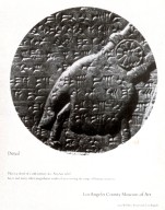 Los Angeles County Museum of Art Advertisement with Assyrian Relief Sculpture