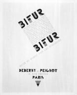 Bifur Compostion for Deberny & Peignot