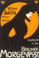 H.A. Revel's Wittwe Dalila in the Berliner Morgenpost Poster