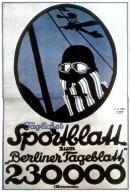 Berliner Tageblatt Sports Section Poster