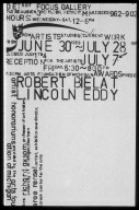 Robert Bielat and Lincoln Eddy Exhibition poster