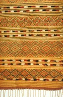Floor Carpet with Stripes and Lozenge Patterns