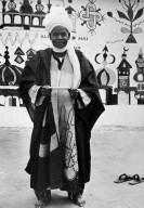 Man Wearing a Hausa Robe