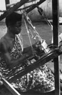 Asante Weaver Working on Kente Cloth