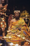 Asante Chief Wearing Kente, a Double Weave Silk Textile