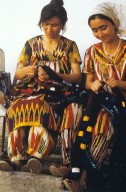 Women in Traditional Workshop Binding Abr Warps