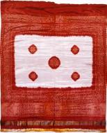 Red and White Odhani of Gajii Silk