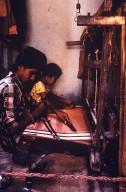 Weaving Ikat Saris on Flyshuttle Pitlooms
