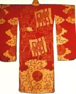 Silk Damask Furisode Kimono