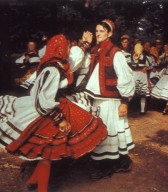Folk Costumes at a Festival